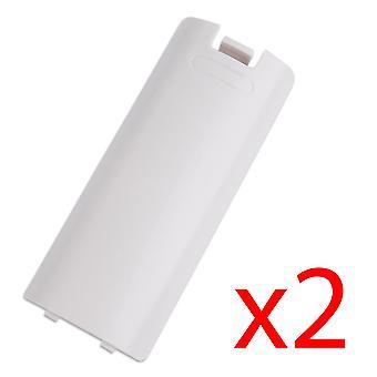 2x بطارية بيضاء وحدة تحكم لاسلكية الغطاء الخلفي لوحدة Wii عن بعد