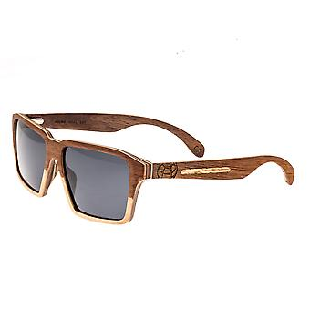 Earth Wood Piha Polarized Sunglasses - Walnut-Bamboo/Black