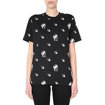 Mcq Door Alexander Mcqueen 583304roh081000 Women's Zwart Katoen T-shirt