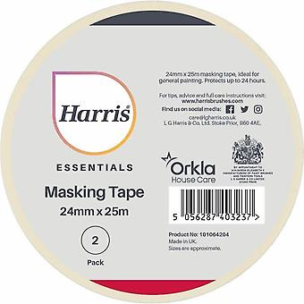 Harris Essentials 24mm Masking Tape (Pack of 2)