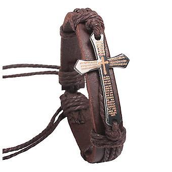 Retro hecho a mano pulsera Cruz Latina