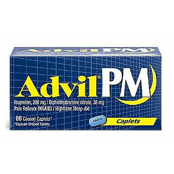 Advil pm pain reliever/nighttime sleep aid, caplets, 80 ea *