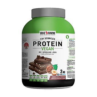 Vegan chocolate hazelnut protein 2 kg of powder