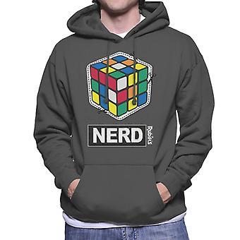 Rubiks kub skära ut nörd mäns Huvtröja