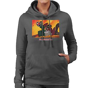 An American Tail Fievel Hides From Cossack Cats Women's Hooded Sweatshirt