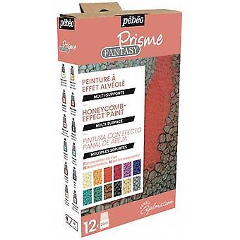 Pebeo Fantasy Prisme Multi-Surface Reactive Paint Exploration Set 12 x 20ml