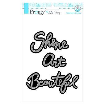 Pronty Crafts Beautiful Art Shine A5 Laser Foam Stamp