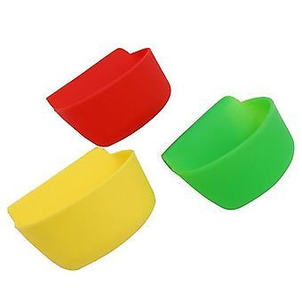 3PCS Portable Silicone Hanging Bowl 10.2x5.5x6cm
