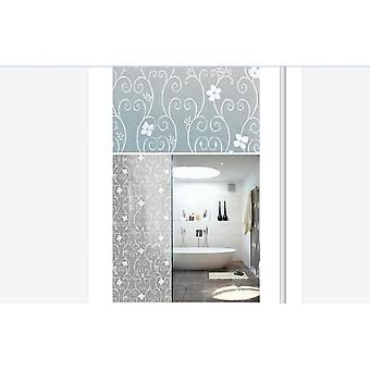 1 Roll Frosted Privacy Floral Pattern Window Film For Home, Bedroom, Bathroom,