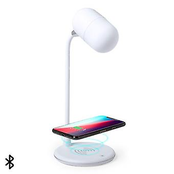 LED Lamp with Bluetooth Speaker and Wireless Charger