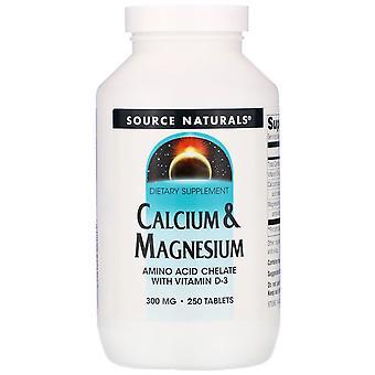 Source Naturals, Calcium & Magnesium, 300 mg, 250 Tablets