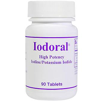 Optimox, Iodoral, Iodine/Potassium Iodide, 90 Tablets