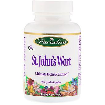 Paradise Herbs, St. John'wort, 90 capsules végétariennes