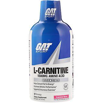 GAT, L-Carnitine, Aminozuur, Rainbow Burst, 1.500 mg, 16 oz (473 ml)
