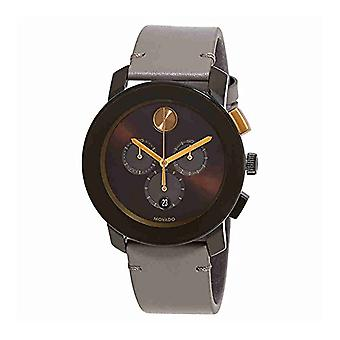 Movado Bold Leather Chronograph Mens Watch 3600445