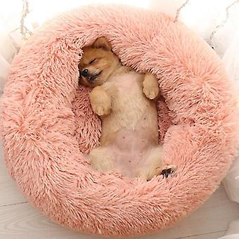 Soft Plush Dog Bed - Round Shape Sleeping Bag Winter Warm Beds