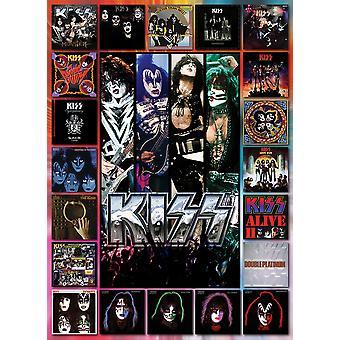 Kiss the albums - 1000 piece puzzle