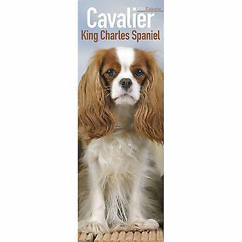 Otter House 2021 Slim Calendario-cavalier Re Charles Spaniel