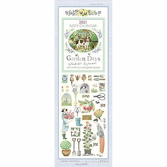 Otter House 2021 Slim Calendar-garden Days