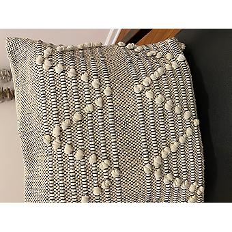 Spura Home Comfortable Triangle Moroccan Style Beige Pillow 18x18