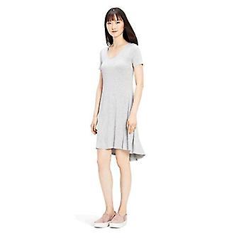 Brand - Daily Ritual Women's Jersey Short-Sleeve V-Neck Dress, Light H...