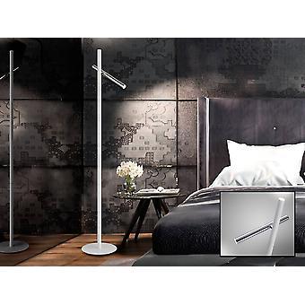 Schuller Varas - Integrated LED 2 Light Floor Lamp Matt White, Chrome