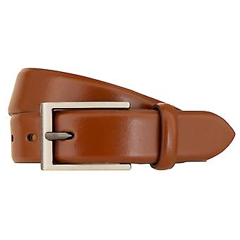 bugatti Belt Men's Leather Belt Men's Belt Leather Belt Cognac 3025