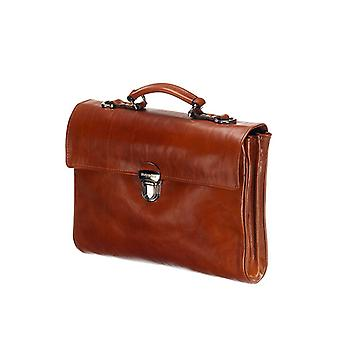 Leather Laptop Bag - The Walker - Cognac
