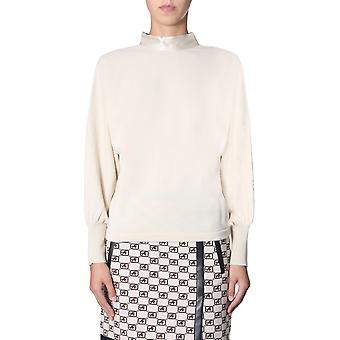 Alberta Ferretti 093266020045 Frauen's Beige Wolle Pullover