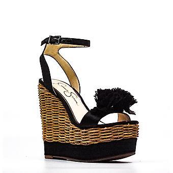 Jessica Simpson | Pressa Crystal Satin Wedge Sandals