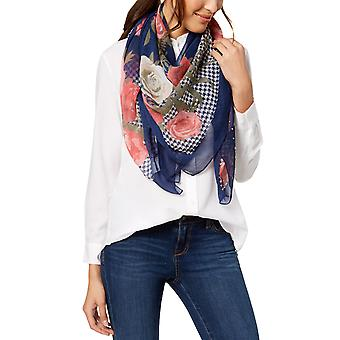 INC | Houndstooth Floral Square Scarf