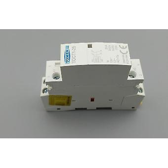 Toct1 2p, 25a, 220v/230v, 50/60hz Din Rail Household, Ac Modular Contactor