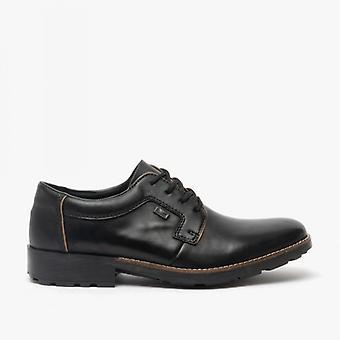 Rieker 16024-00 Mens Leather Wide Fit Shoes Black