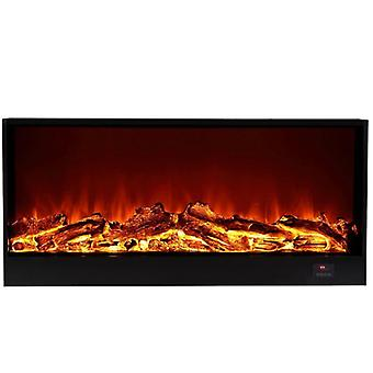 Electric Fireplace Firebox, Insert Burner Room Heater, Led Optical Fire