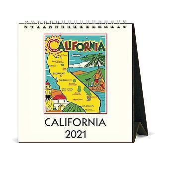 Cavallini & Co California Desk Calendar 2021