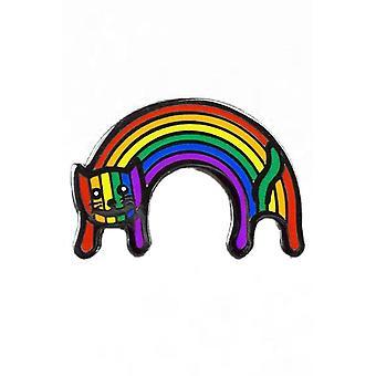 Extrém nagyság Rainbow Cat Zománc Pin