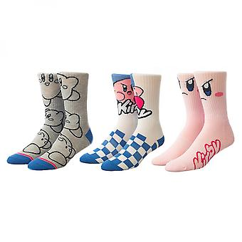 Nintendo Kirby 3-Paar Pack von Frauen's Casual Crew Socken