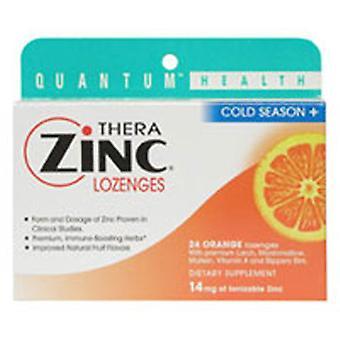 Quantum Health Cold Season+ TheraZinc Lozenges, ORANGE LOZENGES, 24 LOZ