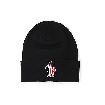 Moncler Grenoble 3b10009974999 Men's Black Wool Hat
