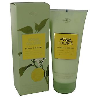 4711 Acqua Colonia Lemon & Ginger Body Lotion Door 4711 6.8 oz Body Lotion