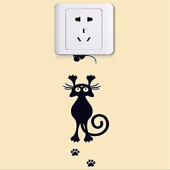 Süße schlafenDe Katze Hund Aufkleber - Wand Home Decor Aufkleber