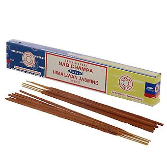 Puckator Satya Nag Champa and Himalayan Jasmine Incense Sticks