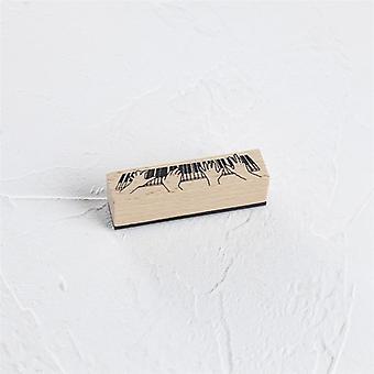 Timbre en caoutchouc en bois standard-12 Conceptions (80mm*20mm)
