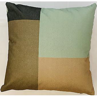 2 X Brown Blocks Cushion Covers