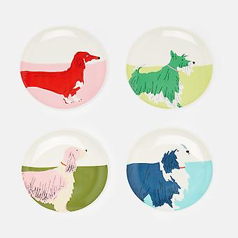 Joules Dog Side Plates, Set of 4