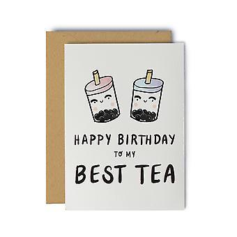 عيد ميلاد سعيد لبلدي أفضل الشاي عيد ميلاد بطاقة المعايدة