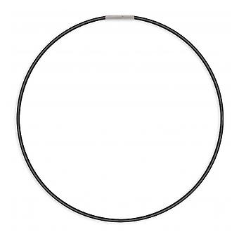 2mm Cotton Imitation And Stainless Steel necklace 316l 50cm
