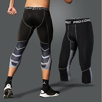 3/4 Broek Mens Leggings Panty's- Mannen Fitness Sports Leggings Running Pants