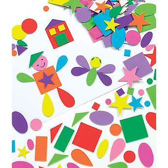 Baker ross self-adhesive foam shapes (pack of 180) for kids arts and crafts.