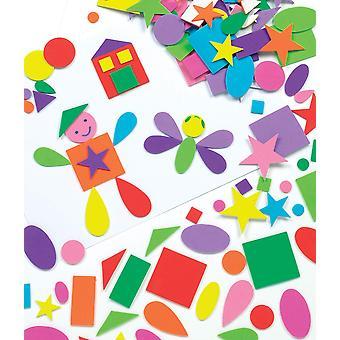 Baker Ross forme de spumă autoadezivă (pachet de 180) pentru copii arte și meserii.